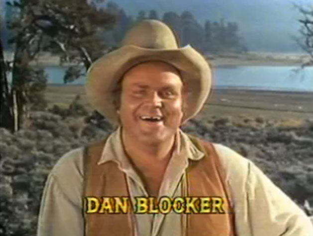 Dan_Blocker_in_Bonanza_opening_credits_episode_Bitter_Water